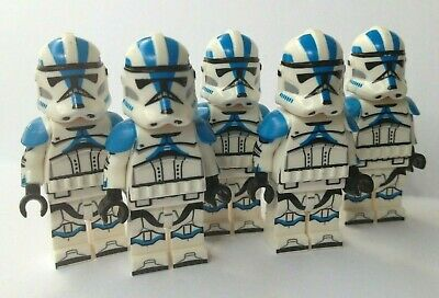 Clone Troopers Blue Star Wars 5X Mini-figures Compatible With Lego • 8.99£