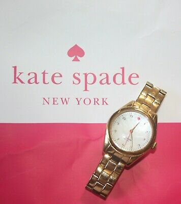 $ CDN33.45 • Buy Kate Spade Mother Of Pearl Watch Live Colorfully Gold Tone Band Stainless Steel