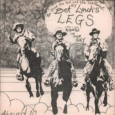BET LYNCH'S LEGS Riders In The Sky 7 INCH VINYL UK Issue Pressed In France • 9.44£