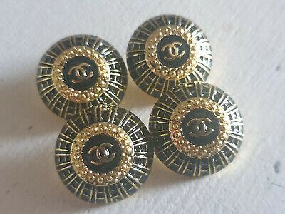 Set Of 4 Chanel Vintage Stamped Buttons 22mm • 45£