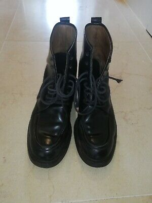 Gucci Mens Shoes Black Leather Boots 114 0138 UK Size 8.5 • 30£