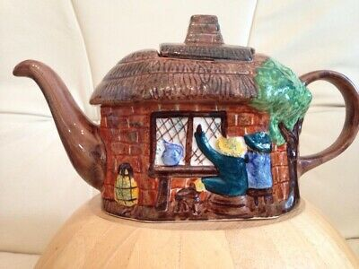 Tony Wood - Vintage Staffordshire Thatched Cottage Teapot - Excellent Condition • 10.50£