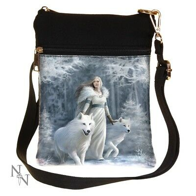 £14.75 • Buy Stunning Anne Stokes Shoulder Bag ~ Winter Guardians ~ Wolf ~ Nemesis Now