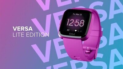 $ CDN119.99 • Buy Fitbit Versa Lite Fitness Activity Tracker Wrist Band - Mulberry