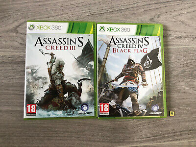Assassins Creed Xbox 360 Games Bundle (Black Flag And AC 3) • 5.95£