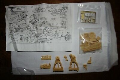 Mechanized Warriers 1/35 7.5 Cm Infantry Resin Gun With 2 Figures & Etched Parts • 5£
