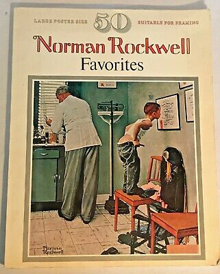 $ CDN9.73 • Buy Vtg 1977 NORMAN ROCKWELL Favorites Book 50 Large Posters Coffee Table Framable