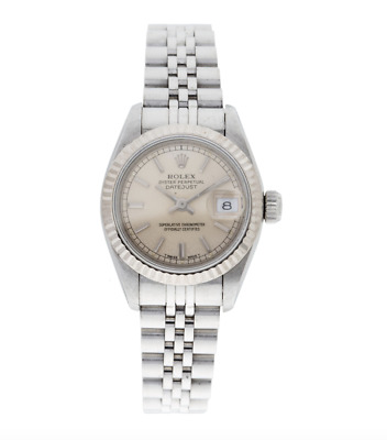 $ CDN4953.58 • Buy Rolex Datejust Ladies Stainless Watch 18K Jubilee Silver 69174 With Box/paper