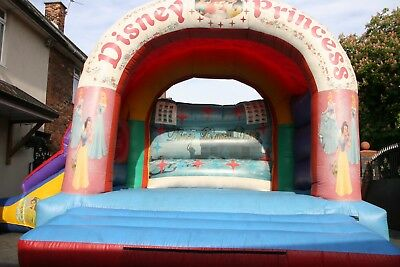 15ft X 21ft Disney Princess Slide Themed Bouncy Castle For Sale With Blower. • 650£