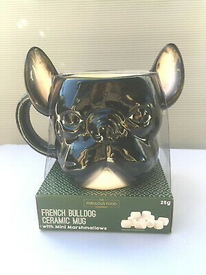 CUP MUG & Marshmallows FRENCHIE  BLACK French Bulldog  NEW Animal • 24.61£