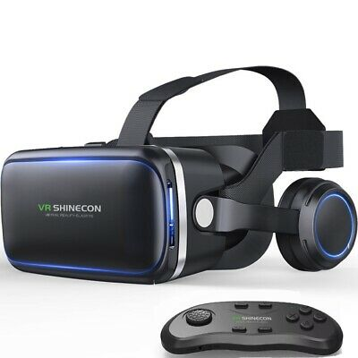 AU49.99 • Buy VR Headset With Remote Controller 3D Glasses Virtual Reality Headset
