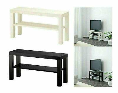 Ikea Lack TV Bench Table Stand LCD LED Bed Sitting Room,90x26 Cm White/black • 21.99£