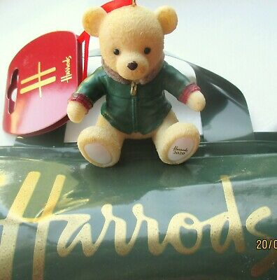 Harrods Christmas Resin 2020 FOOT DATED BEAR HARRODS BAG + Tag Limited Supply  • 20.45£