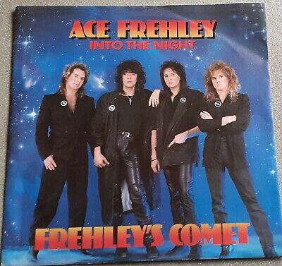 Ace Frehley / Kiss – Into The Night  UK 7  Single 1987 • 3.99£