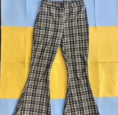 £10 • Buy Checkered Flared Trousers