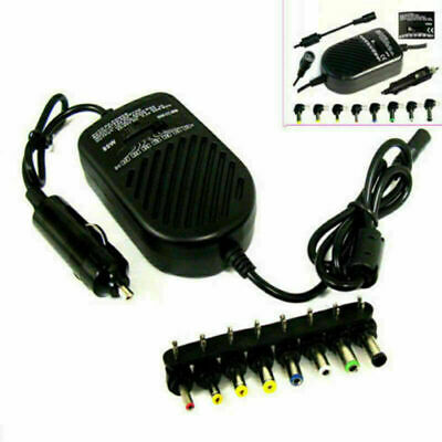 80W Universal LAPTOP CAR CHARGER TRAVEL ADAPTER 12V DELL HP TOSHIBA SONY ACER • 10.49£