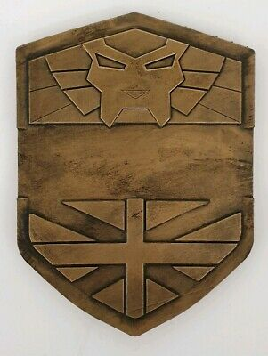 JUDGE DREDD 2012 Badge, Bricit Painted Gold Or Silver, Custom Blank, Chest Badge • 13.95£