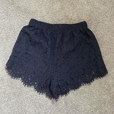 Zara Navy Lace Shorts Womens Size XS • 10£