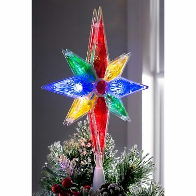 North Star Christmas Tree Topper Decoration Multi-Colour LED Lights 27cm • 11.99£