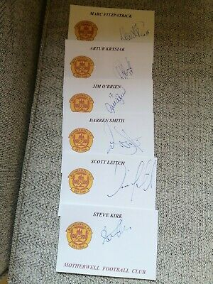 Motherwell F.C. Autographs, Signed X 34 • 17£