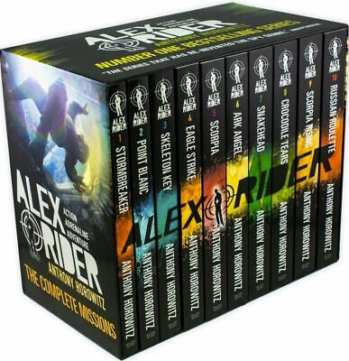 Alex Rider Collection Anthony Horowitz 10 Books Set (Russian Roulette, Scorpia R • 20.19£