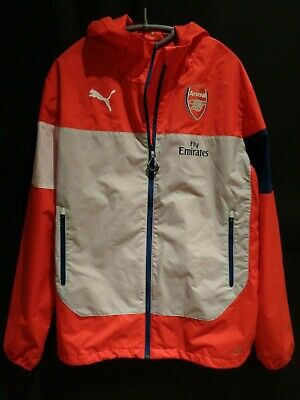 Puma Arsenal Fly Emirates Red White Jacket Size M • 23£
