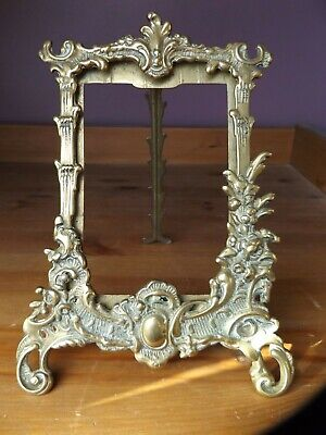 Vintage Ornate Rococo French Style Brass Picture Photo Frame No Glass • 23.99£