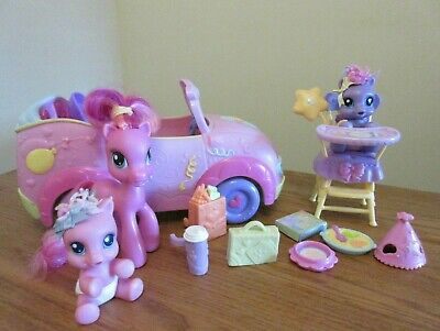 Hasbro - My Little Pony New-born Cuties Car And High Chair -please Read Detail • 2.50£
