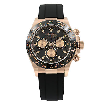 $ CDN52384.17 • Buy Rolex Daytona Oysterflex Everose Gold Black Dial Automatic Mens Watch 116515LN