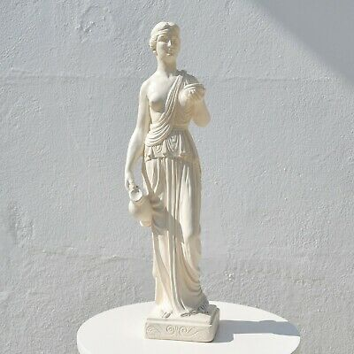 Vintage Plaster Greek/roman Classical Female Standing Woman Goddess Statue • 0.99£