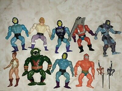 $75 • Buy HE MAN MASTERS OF THE UNIVERSE 1980S Lot Of 9 Figures 8 1980s 1 2000s