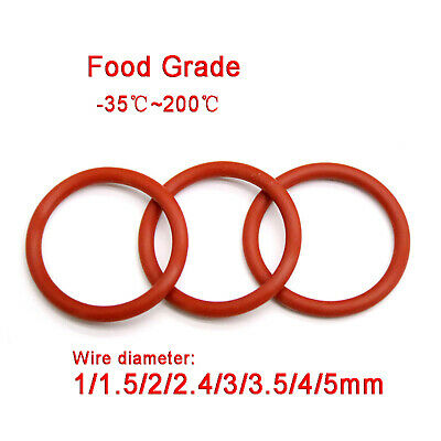 AU2.25 • Buy Red Food Grade Silicone O-Ring O Rings, 12mm - 50mm OD, 1mm - 5mm Wire Diameter