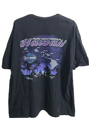$ CDN33.32 • Buy Vintage Harley Davidson Pacific Hawaii Black Graphic Motorcycle T-shirt Size 2XL