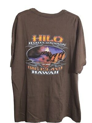 $ CDN33.32 • Buy Vintage Harley Davidson Motorcycles T-Shirt 2XL - Big Island Hilo Hawaii