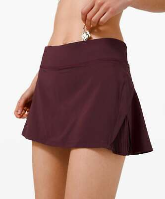 $ CDN96.52 • Buy Lululemon Play Off The Pleats Skirt Size 10 (Cassis)