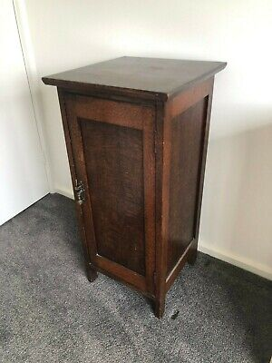 AU190 • Buy Antique Single Door Timber Cabinet With Key - In VGC