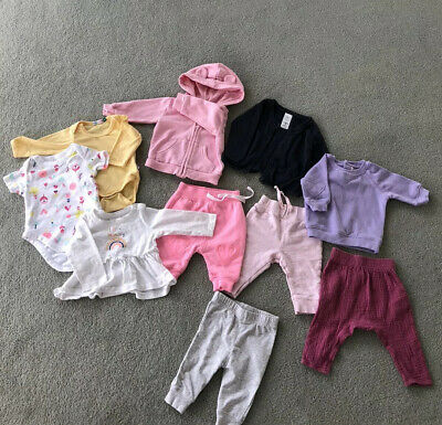 AU18 • Buy Baby Girl Clothes Bulk - 3 Complete Outfits + - Size 0-3 Months 000