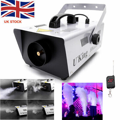 900W Smoke Machine Fog Machine Stage Haze Effect DJ Home Disco Party With Remote • 38.99£