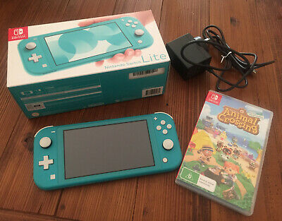 AU225.50 • Buy Nintendo Switch Lite 32gb Turquoise Console & Animal Crossing Game -Sent Express