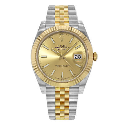 $ CDN18725.38 • Buy Rolex Datejust 41 Steel 18K Yellow Gold Champagne Index Dial Mens Watch 126333