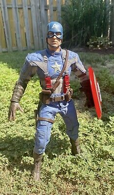 $ CDN289.98 • Buy Hot Toys 1/6 Captain America First Avenger Figure With Box & Replacement Shield