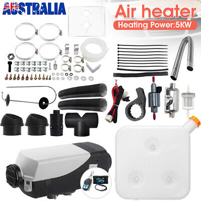 AU197.59 • Buy Diesel Air Heater 12V 2-5KW Adjustable Tank Thermostat Vent Duct Truck Caravan