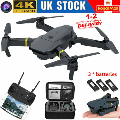 Drone X Pro WIFI FPV 4K HD Camera 3 Batteries Foldable Selfie RC Quadcopter Gift • 29.43£