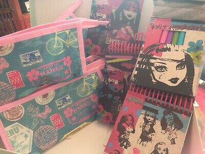 4 X Monster High Mini Sketch Book  And 4 X Pencil Case/wash Bags Inc P & P. • 9.99£
