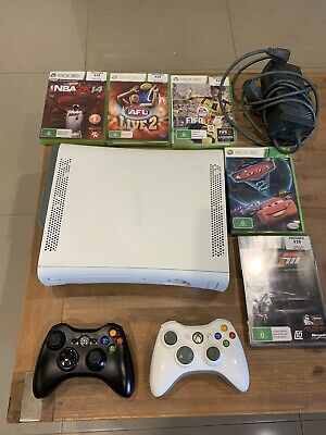 AU150 • Buy Xbox 360 Console 250Gb + 2x Wireless Controllers + 5x Games