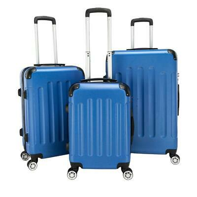 View Details New 3 X Travel Spinner Luggage Set Bag ABS Trolley Carry On Suitcase W/TSA Blue • 95.99$