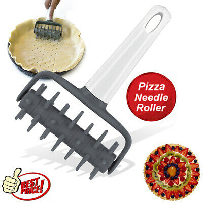 Pizza Pie Pastry Dough Hole Puncher Roller Pin Docker Pitter Baking Cooking Tool • 3.75£