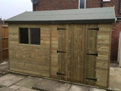 16 X 10 Reverse Apex Workshop Shed / Fully Pressure Treated • 1,930£