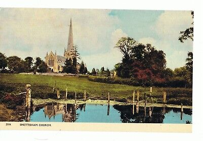 SNETTISHAM CHURCH, Norfolk Posted 1979 Postcard • 1.99£
