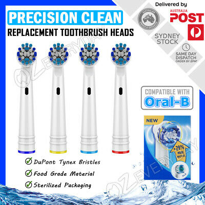 AU4.99 • Buy PRECISION CLEAN Oral B Compatible Electric Toothbrush Replacement Brush Heads X4